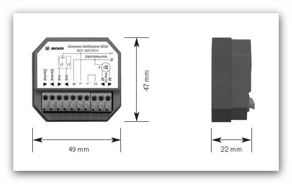 Becker Centronic UnitControl UC42 Einzelsteuergerät