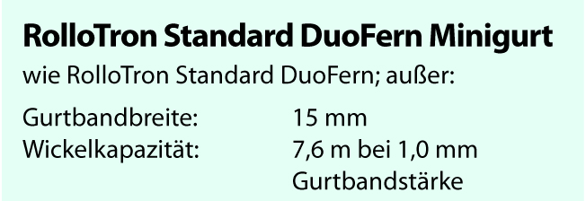 rademacher rollotron standard duofern minigurt 14154511. Black Bedroom Furniture Sets. Home Design Ideas